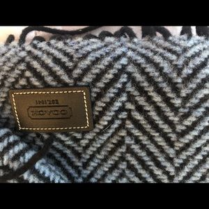 Blue and black coach scarf